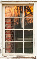 Brick Column in Window